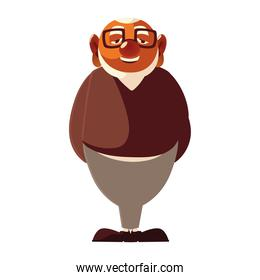 old man grandfather cartoon character senior