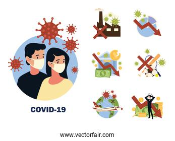 impact of covid 19 coronavirus, virus affects the global economy, travel, sports and lifestyle