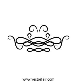 icon of swirl divider decoration, line style