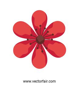 red flower garden plant decoration icon