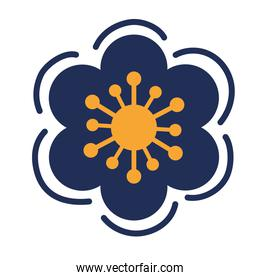 blue and yellow flower garden plant decoration icon