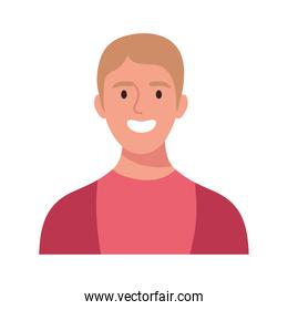 blond happy young man avatar character