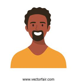 afro happy young man avatar character