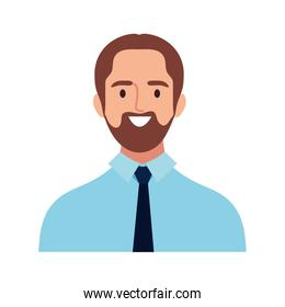 happy business young man avatar character