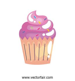 delicious cupcake birthday celebration icon