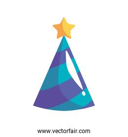 party hat cone with star celebration icon