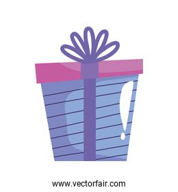 gift box present color isolated icon