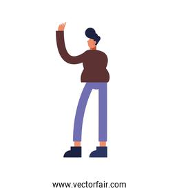 man cartoon isolated vector design