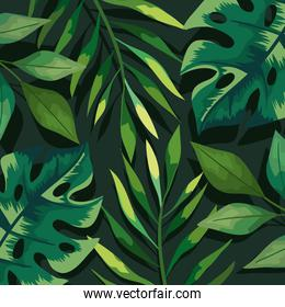 green leafs and branches pattern background