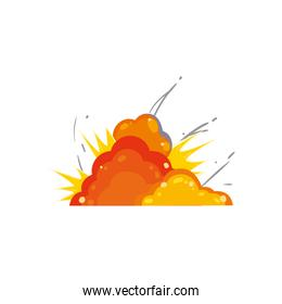 Military explosion icon vector design