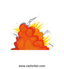 Military explosion cartoon vector design