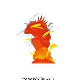 explosion icon isolated vector design
