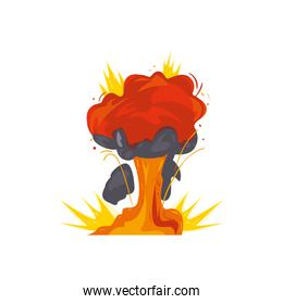 Military explosion with smoke vector design