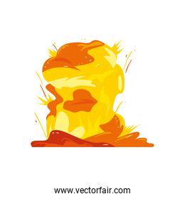 Military yellow explosion vector design