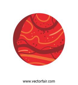 Space red planet icon vector design