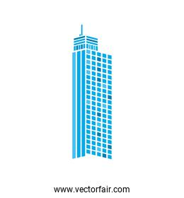 building of city isolated vector design
