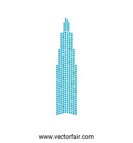 building tower of city vector design