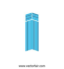 striped building of city vector design