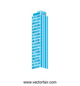 building of city with lines and squared vector design
