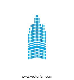 building tower of city isolated vector design