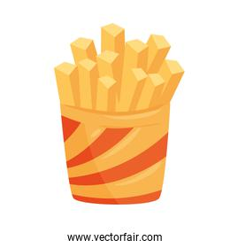 french fries isolated vector design