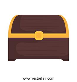 treasure chest isolated vector design