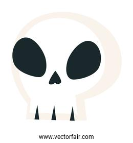 Skull icon isolated vector design
