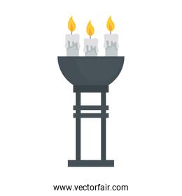 candles in bowl isolated vector design