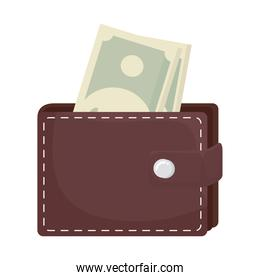 bills in wallet vector design