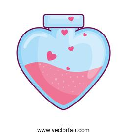 Heart flask isolated vector design