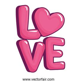 Love with heart vector design