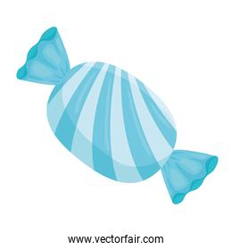 Sweet blue and striped candy vector design