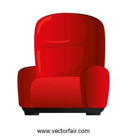 Cinema red chair vector design