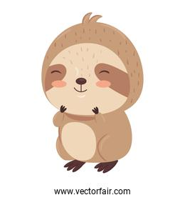 Kawaii sloth bear animal cartoon vector design