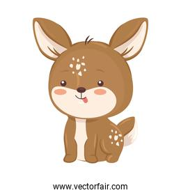 Kawaii reindeer animal cartoon vector design