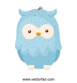 Kawaii blue bird animal cartoon vector design