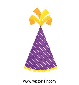 party hat isolated vector design