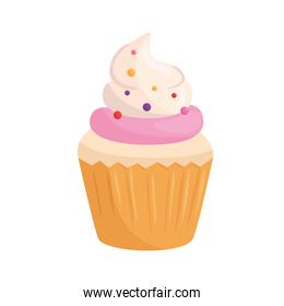 Sweet cupcake with cream vector design