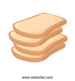toast breads isolated vector design