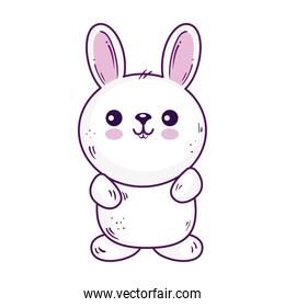 Kawaii rabbit animal cartoon vector design