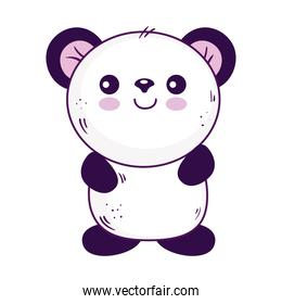 Kawaii panda bear animal cartoon vector design