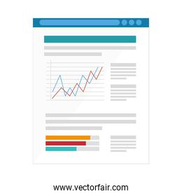 paper document with statistics infographic icon