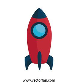 rocket launcher startup isolated icon