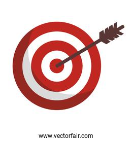 success target with arrow isolated icon