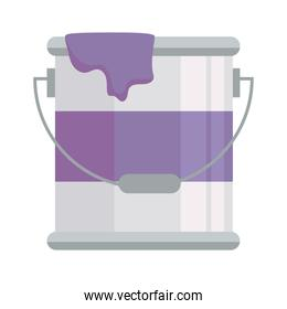 paint bucket construction tool isolated icon