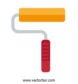 paint roller construction tool isolated icon