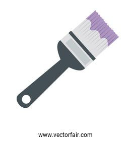 paint brush construction tool isolated icon