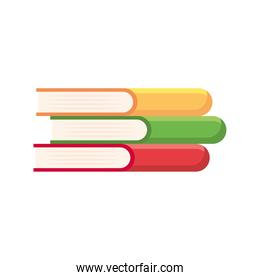 pile text books library icon