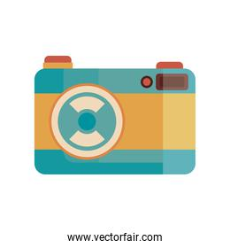 old retro blue camera device icon