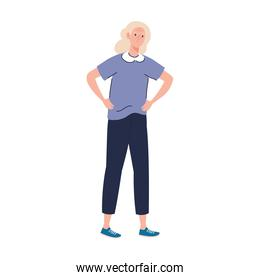 elderly old woman standing character